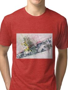 The Steel Jungle, Manhattan - Original Wall Modern Abstract Art Painting Original mixed media Tri-blend T-Shirt