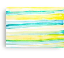 Watercolr Yellow and Blue Horizons Canvas Print