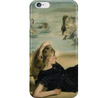 Edouard Manet - On the Beach 1868 , Impressionism  Seascape  iPhone Case/Skin