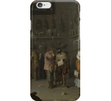 Cornelis Saftleven - Who sues for a cow 1629 iPhone Case/Skin