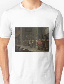 Cornelis Saftleven - Who sues for a cow 1629 Unisex T-Shirt