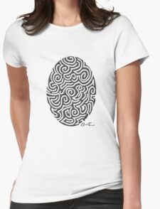 Easter - Black on White Womens Fitted T-Shirt