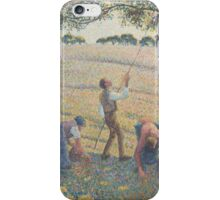 Camille Pissarro - Apple Harvest 1888 French Impressionism Landscape iPhone Case/Skin