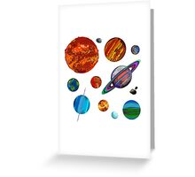 The Planets Greeting Card