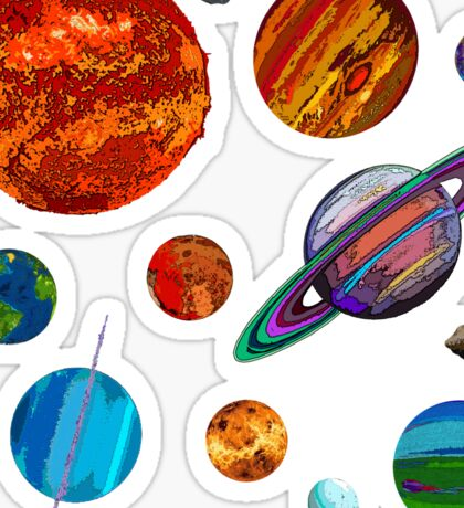 The Planets Sticker
