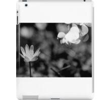 Macro Flower Black and White iPad Case/Skin
