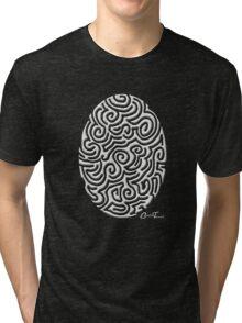 Easter - White on Black Tri-blend T-Shirt