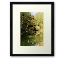 Serene Canal with Reflection Framed Print