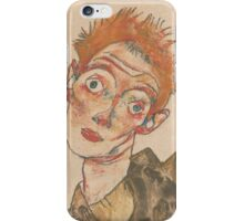 Egon Schiele - Self-Portrait with Striped Armlets 1915  Expressionism  Portrait iPhone Case/Skin