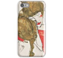 Egon Schiele - Mother and Daughter 1913 Woman Portrait iPhone Case/Skin