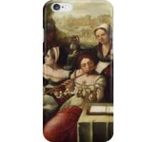 Flemish Painter - The Prodigal Son amidst the Whores  1540 iPhone Case/Skin
