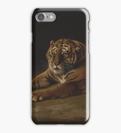 George Stubbs - Tiger 1769 - 1771 Fashion Portrait iPhone Case/Skin