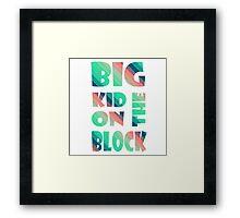 Big kid on the block Framed Print