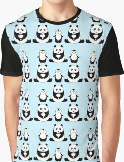 PANDAS & PENGUINS Graphic T-Shirt