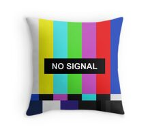 No Signal TV screen Throw Pillow