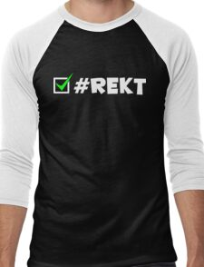 #REKT Men's Baseball ¾ T-Shirt