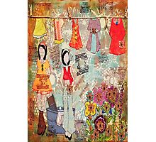 Mixed Media Wash Day # julie nutting paper dolls. Photographic Print