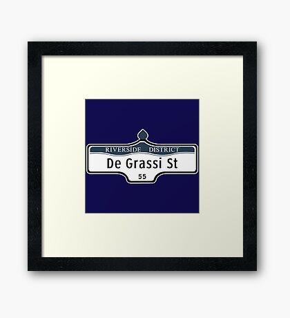 DeGrassi Street Sign, Riverside District, Toronto, Canada Framed Print