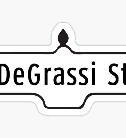 DeGrassi Street Sign, Toronto, Canada Sticker