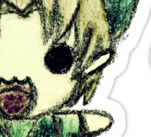 Cute Link crayon drawing  Sticker