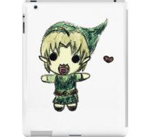 Cute Link crayon drawing  iPad Case/Skin