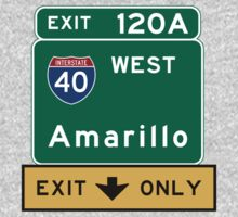 Amarillo, TX Road Sign, USA One Piece - Long Sleeve