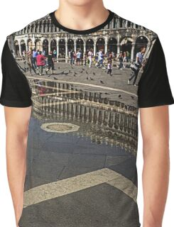 Reflections in Piazza San Marco Graphic T-Shirt