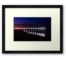 Lights on the sea Framed Print