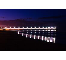 Lights on the sea Photographic Print