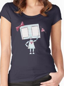 Sad girl robot Women's Fitted Scoop T-Shirt