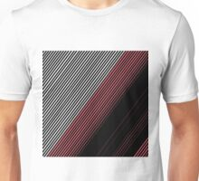 Modern Red White and Black Stripes Pattern Unisex T-Shirt