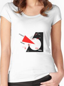 El Lissitzky - Beat the Whites Women's Fitted Scoop T-Shirt