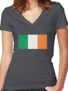 Irish Flag Women's Fitted V-Neck T-Shirt