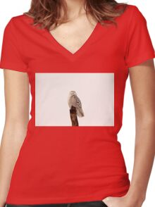 Sit And Wait Women's Fitted V-Neck T-Shirt