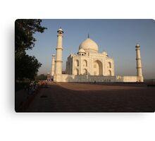 The Taj Mahal as the sun rises. Canvas Print