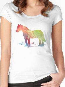 Horse portrait Women's Fitted Scoop T-Shirt