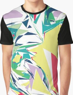 Colorful Abstract Jagged Geometric Pattern Graphic T-Shirt
