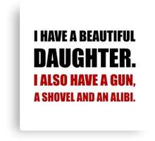 Beautiful Daughter Gun Canvas Print