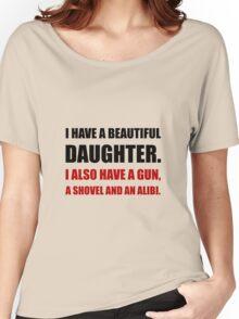 Beautiful Daughter Gun Women's Relaxed Fit T-Shirt