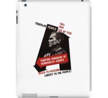 Death To Fascism! Vintage Yugoslav WW2 Poster iPad Case/Skin