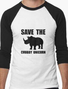 Chubby Unicorn Rhino Men's Baseball ¾ T-Shirt