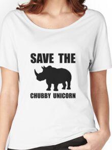 Chubby Unicorn Rhino Women's Relaxed Fit T-Shirt