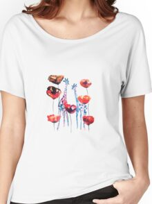 Poppies and Giraffes  Women's Relaxed Fit T-Shirt