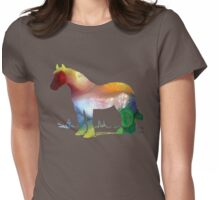 Horse portrait Womens Fitted T-Shirt