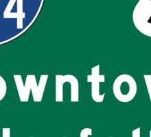 Norfolk, VA Road Sign, USA Sticker