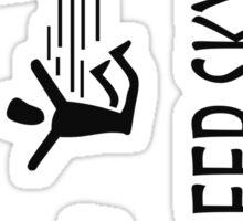 Eat Sleep Skydive BLACK Sticker