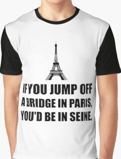 Paris Bridge In Seine Graphic T-Shirt