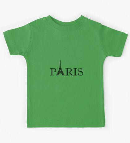 Paris Eiffel Tower Kids Tee