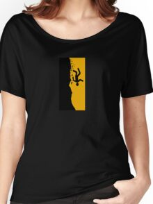 Beware of the Ravine Sign, California, USA Women's Relaxed Fit T-Shirt