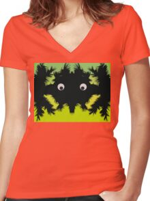 Weird parasite -colored edition Women's Fitted V-Neck T-Shirt
